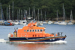 "Trent Class 14-18 ""RNLB Maurice and Joyce Hardy"" - Fowey Lifeboat - Heads down the River Fowey on a shout 11.08.10"